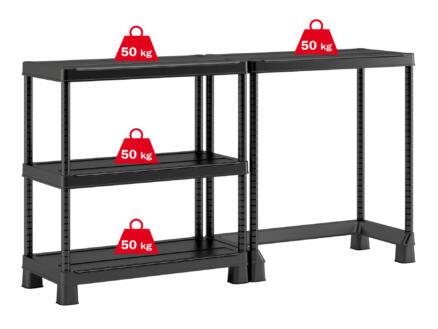 Keter Plus Open Base étagère 90x45x182 cm PVC noir