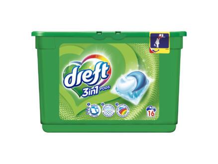 Dreft Pods Regular 3-en-1 capsule lessive 16 tabs