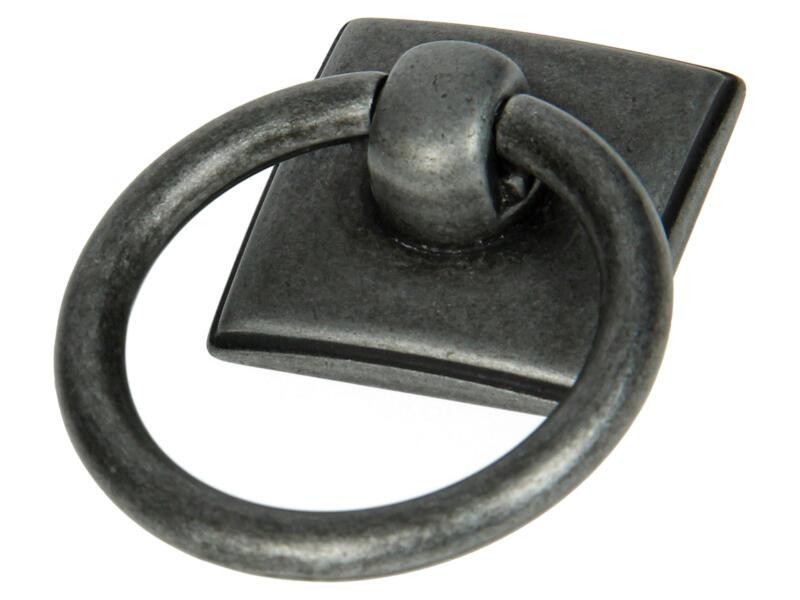 Sam Poignée anneau et plaque vieux fer