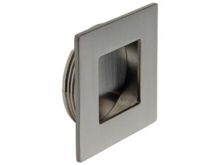 Sam Poignée cuvette carrée 50x50 mm inox