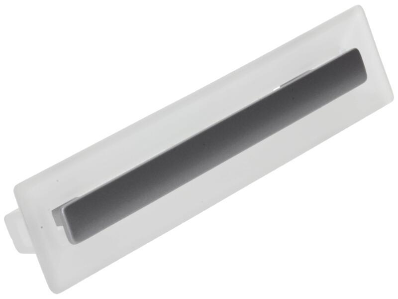 Sam Poignée de meuble  matière synthétique 96mm aluminium gris