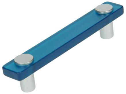 Sam Poignée de meuble 96mm matière synthétique bleu 2 pièces
