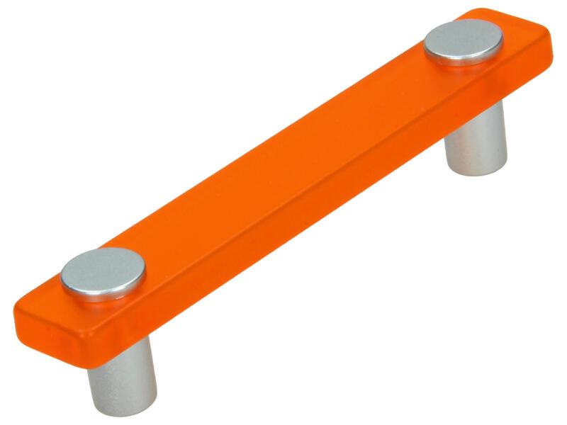 Sam Poignée de meuble 96mm matière synthétique orange 2 pièces