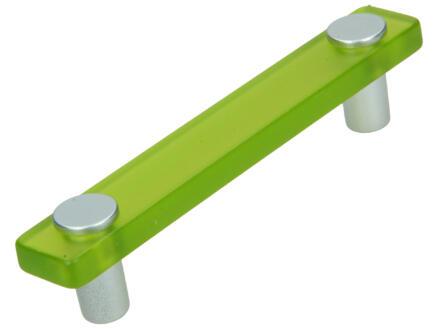 Sam Poignée de meuble 96mm matière synthétique vert 2 pièces