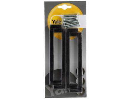 Yale Poignée de meuble Quanto 128mm noir 4 pièces