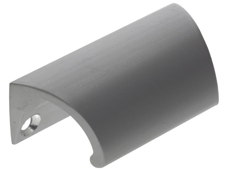 Poignée de tiroir 70x21x28 mm aluminium mat