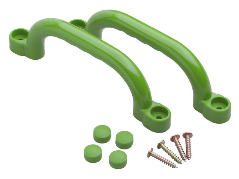 Poignées aire de jeux vert pomme 2 pièces