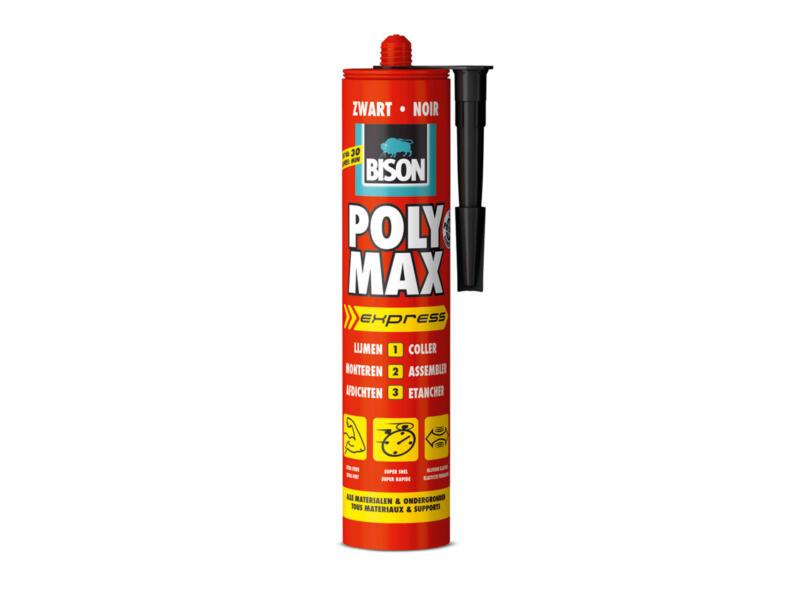 Bison Poly Max Express montagelijm en afdichtingskit 425g zwart