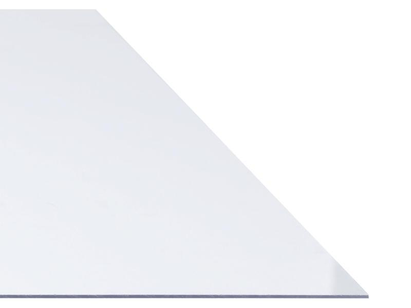 Polystyreen plaat 100x50 cm 4mm transparant