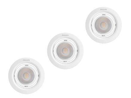 Philips Pomeron spot LED encastrable 3x7 W dimmable blanc