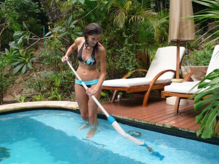 Interline Pool Vacuum Cleaner zwembad steelstofzuiger + 3 hulpstukken