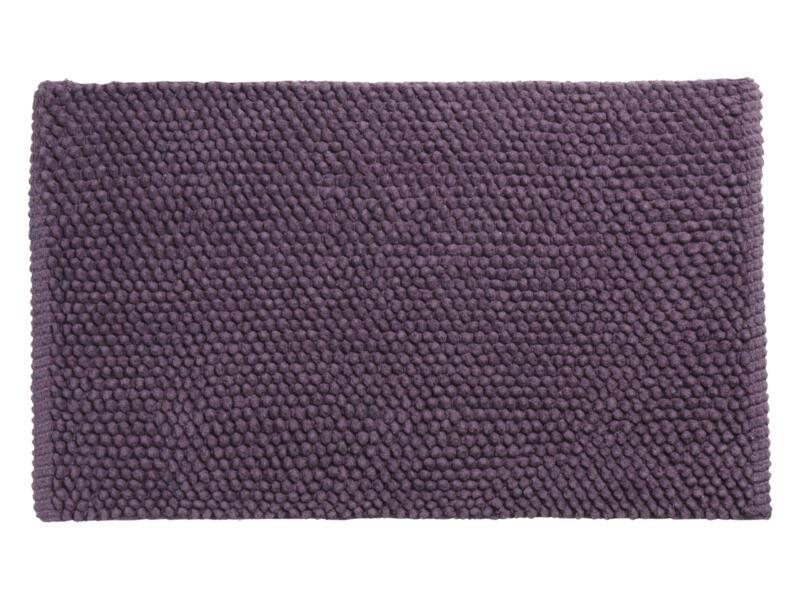 Differnz Popcorn badmat 80x50 cm violet