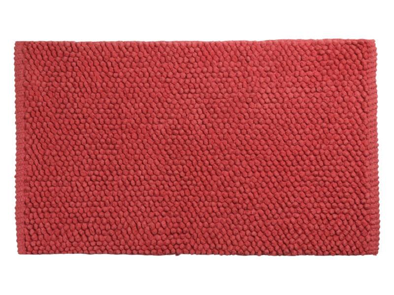 Differnz Popcorn tapis de bain 80x50 cm corail
