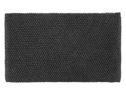 Differnz Popcorn tapis de bain 80x50 cm noir