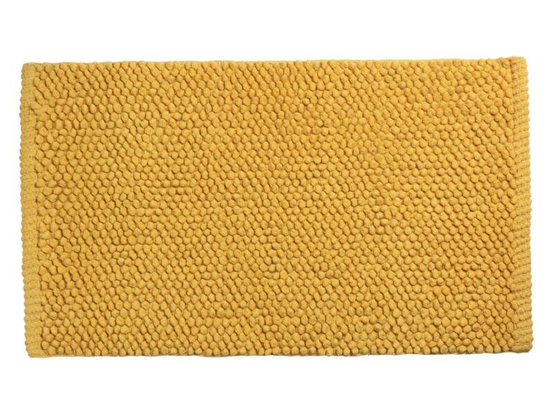 Differnz Popcorn tapis de bain 80x50 cm ocre