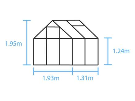 Halls Popular 46 serre polycarbonate
