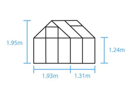 Halls Popular 46 serre vert polycarbonate