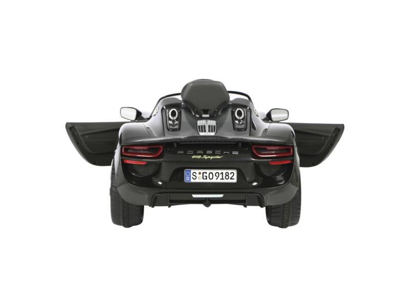 Porsche 918 Spider elektrische kinderauto zwart met afstandsbediening