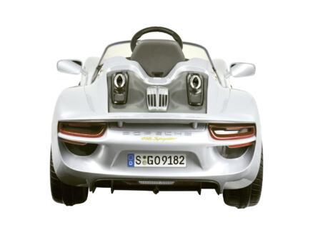 Porsche 918 Spider voiture électrique pour enfants argent + télécommande