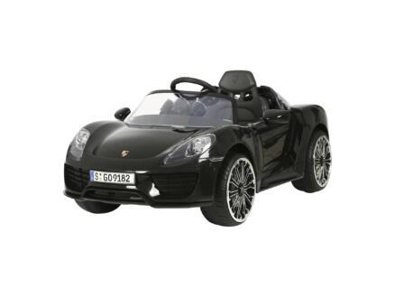 Porsche 918 Spider voiture électrique pour enfants noir + télécommande