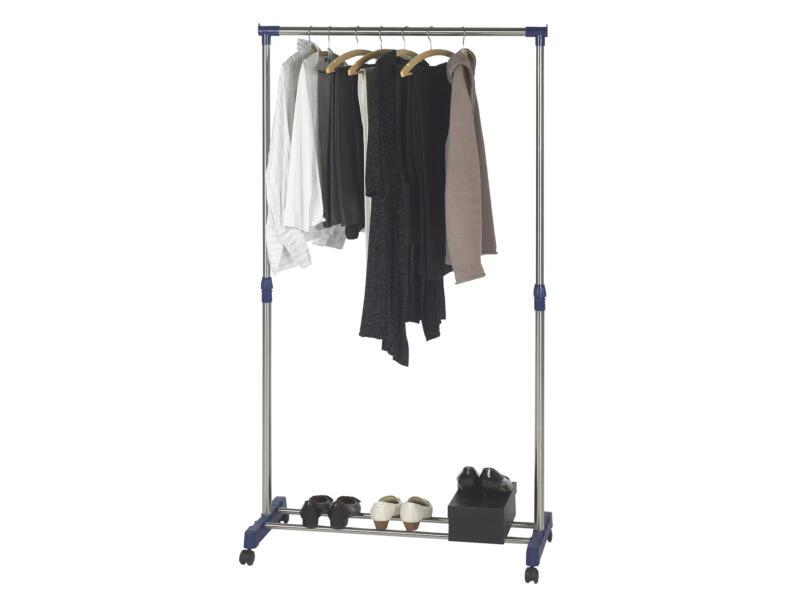Casibel Portant vêtements ultra solide 169x89x41,5 cm chrome