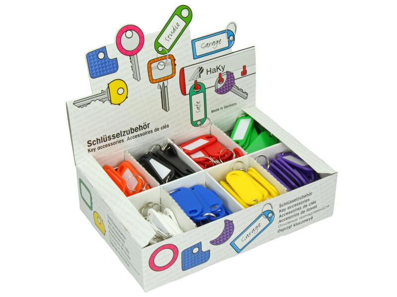 Porte-clé étiquette coloré disponible en 8 couleurs