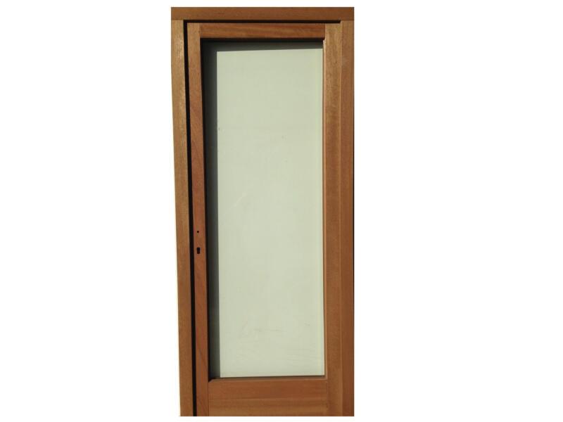 Porte extérieure vitrée poussant droit 217x94 cm