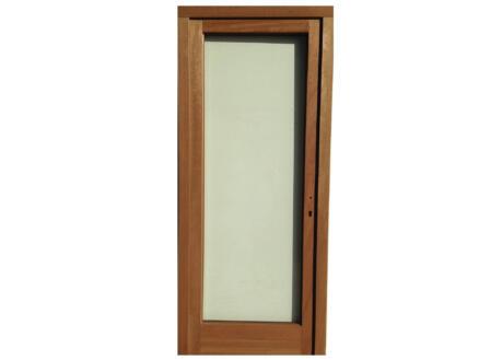 Porte extérieure vitrée poussant gauche 217x94 cm