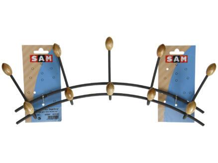 Sam Portemanteau 5 crochets doubles métal