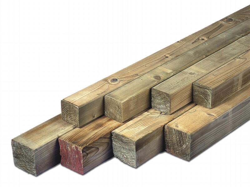 Poteau 270x6,8 cm carré raboté