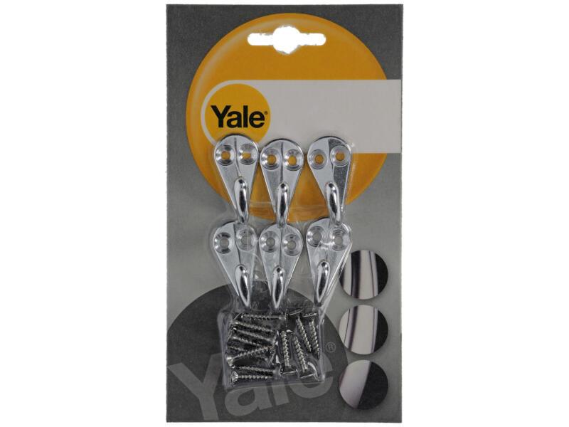 Yale Pothaak aluminium naturel 6 stuks