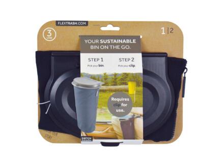 Flextrash Poubelle portable S 3l noir