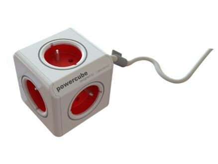 Chacon PowerCube stekkerdoos 4x met kabel 1,5m wit
