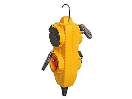 Brennenstuhl Powerblock stekkerdoos 4x geel