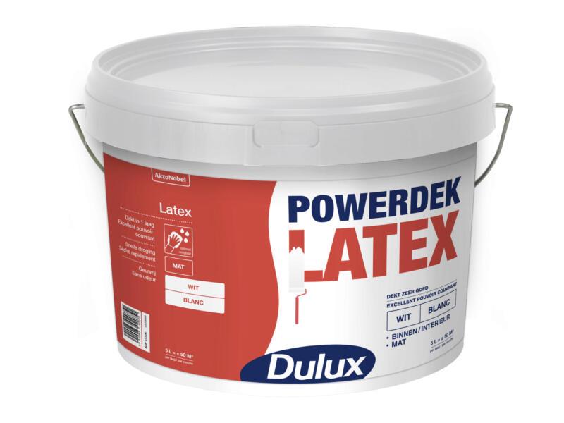 Dulux Powerdek Latex Peinture Mur Plafond Mat 5l Blanc Hubo
