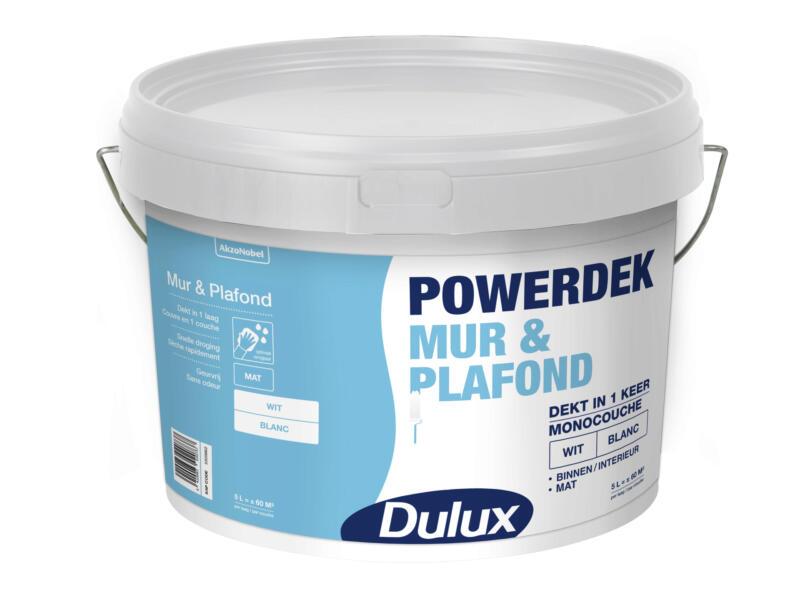 Dulux Powerdek peinture mur & plafond mat 5l blanc