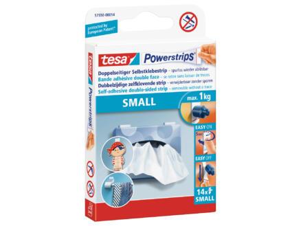 Tesa Powerstrips Small languettes adhésives 14 pièces blanc