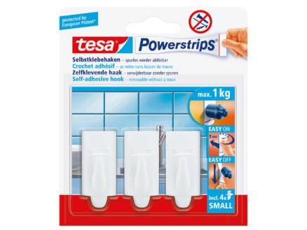 Tesa Powerstrips crochet 4cm 1kg blanc 3 pièces