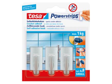 Tesa Powerstrips crochet 5cm 1kg chromé3 pièces