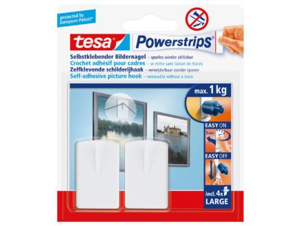 Tesa Powerstrips crochet pour cadres 4,3cm 1kg 2 stuks