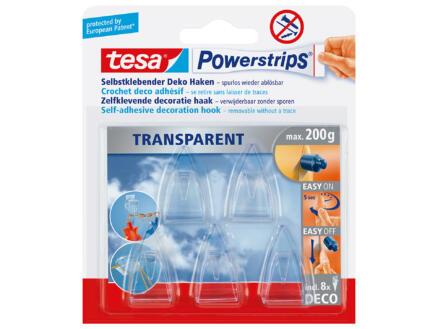 Tesa Powerstrips crochets déco transparent 5 pièces