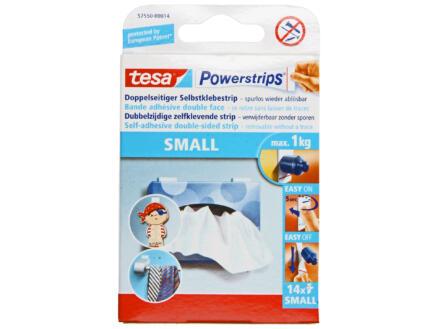 Tesa Powerstrips dubbelzijdige kleefstrip 10cm 1kg wit 14 stuks