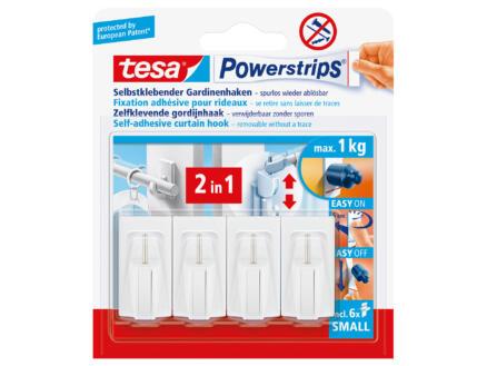 Tesa Powerstrips fixation pour rideau 4,5cm 1kg blanc