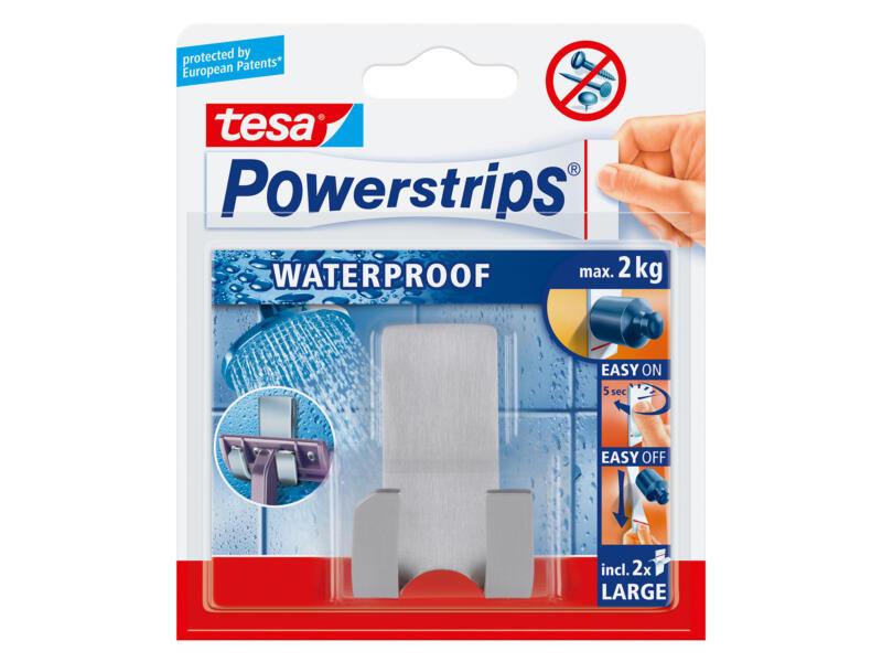Tesa Powerstrips scheermeshouder rvs