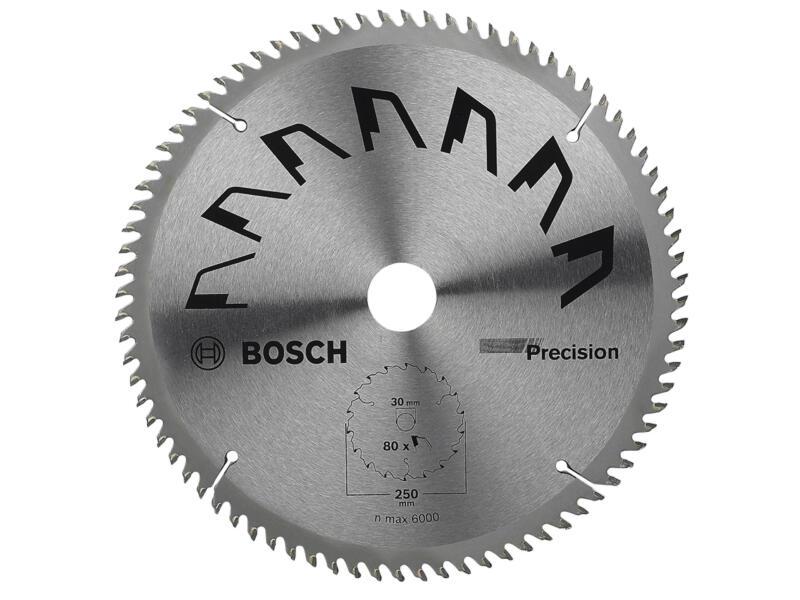 Bosch Precision cirkelzaagblad 250mm 80T hout