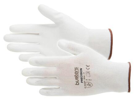 Busters Precision gants de travail L PU-flex blanc