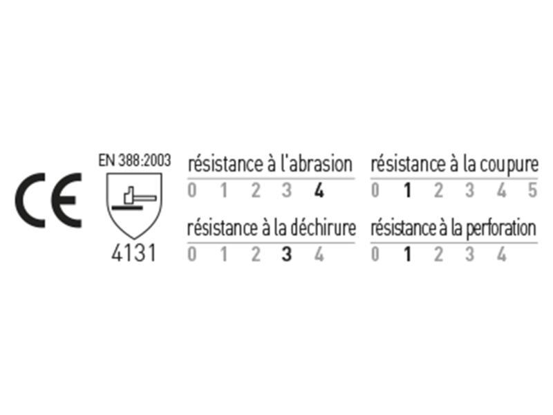 Busters Precision werkhandschoenen L PU-flex wit