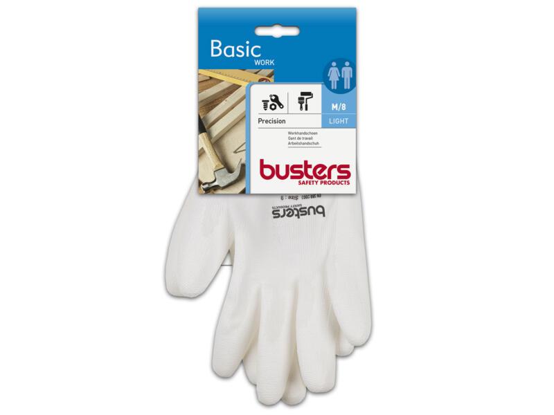 Busters Precision werkhandschoenen M PU-flex wit