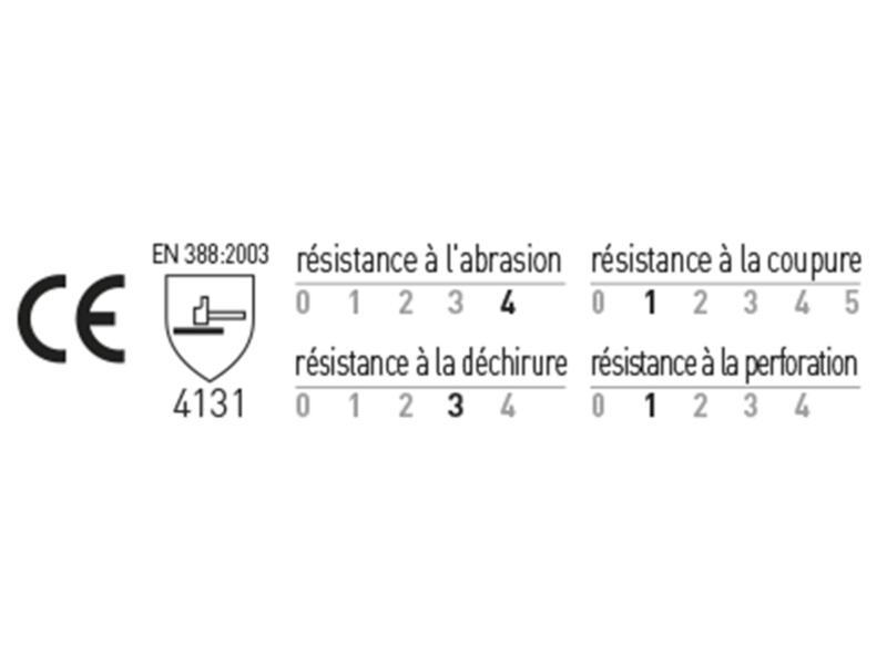 Busters Precision werkhandschoenen M PU-flex zwart