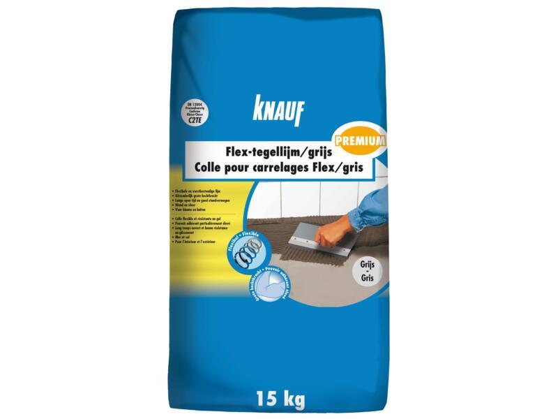 Knauf Premium Flex-tegellijm 15kg grijs